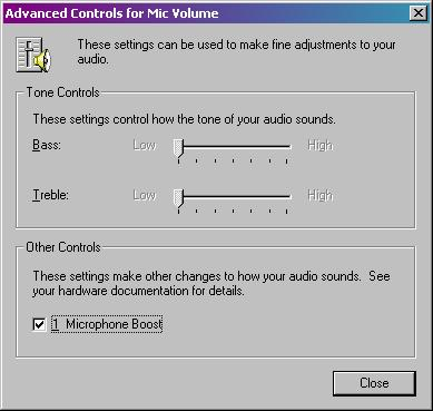 Advanced Mikrofon Control