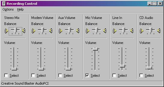 မွတ္တမ္းတင္ျခင္း (Recording) Control
